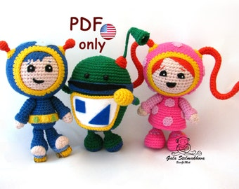 Best friends Umizoomi team, amigurumi crochet pattern bundle