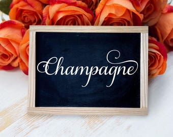 Champagne Decal Wedding Decal Reception Decor Reception Table Wedding Sign Decal Wedding Reception Decal Bridal Shower Vinyl Party Decal
