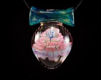 Dancing Flower, Blown Glass Pendant
