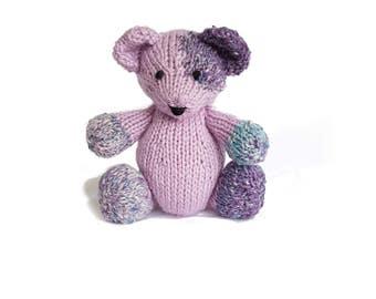 Maxine the Hand Knit Teddy Bear, bear plushie, Bear, Children, Baby, Gift, Stuffed Animal, Toy, nursery decor, cute bear, bear stuffie