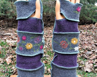 Arm Warmers, Fingerless Gloves, Texting Gloves, Driving Gloves, Hand Warmers, Wrist Warmers, Mittens, Recycled Sweaters, Hippie, Boho, Wool