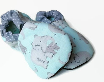 Elephant baby shoes boy girl baby booties soft sole shoes toddler shoes elephant crib shoes vegan baby shoes elephant baby clothes