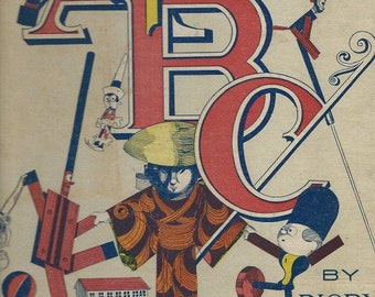 abc toy  dom book cover rigby illustrations 1901 bright colors download