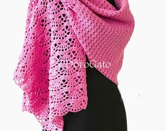 Crochet Lace shawl pattern, Crochet scarf pattern, stole, woman shawl, pattern shawl, crochet stole pattern, Instant Download /1010A/