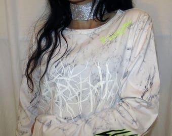 NE0N~ cyber,, embroidered T