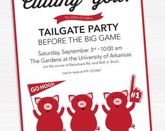 Hogs Calling You Tailgate Invitation, Arkansas Razorbacks // Digital, Printable File