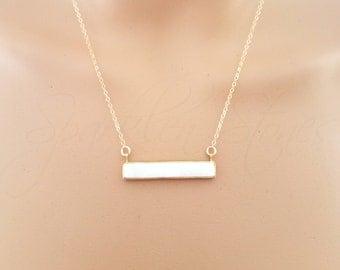 Druzy Bar Necklace, Druzy Necklace, Bar Necklace, Horizontal Druzy Bar Necklace, White Druzy Bar Necklace