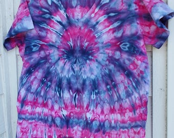 Ice-Dyed Tie Dyed Women's Tshirt, M/L