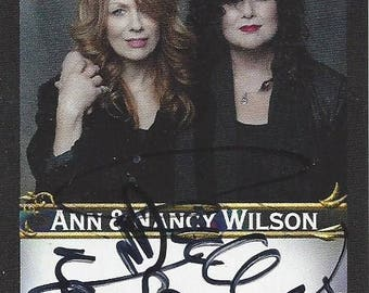 Ann and Nancy Wilson of Heart Authentic AUTOGRAPHED Custom Trading Card