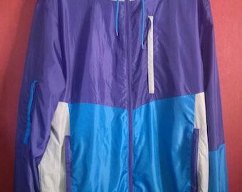 Vintage 90s 00s Windbreaker Lilac Grey VINTAGE WINDBREAKER Multicolor Colorblock  Windbreaker  Lilac Blue SizeL