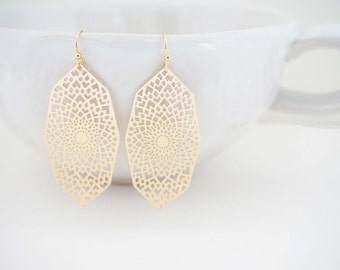 Gold Moroccan Filagree Earrings
