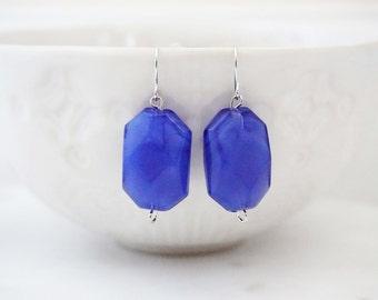 Blue Bead Earrings, Parisian Earrings