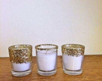 24 votives, votive candle holder,  wedding centerpiece, wedding decorations, gold centerpiece, wedding candle, wedding favors, wedding decor