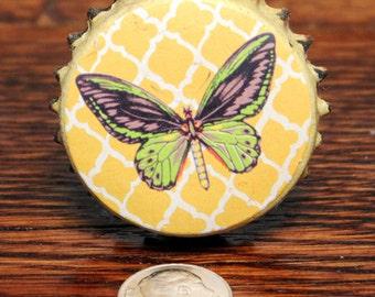 Butterfly Knob - Bottle Cap Knob - Butterfly Drawer Pulls - Cabinet Knobs - Butterfly Dresser Knobs - Dresser Hardware - Butterfly Knobs