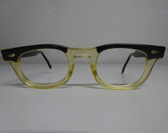 Vintage 1950's American Optical Buddy Holly Style Eyeglass Frames, Rockabilly Eyeglasses, Mad Men eyeglass Frames  - FREE SHIPPING