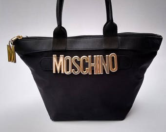 Sale! MOSCHINO by Redwall Black Handbag. Italian Designer purse.