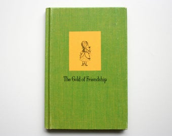 The Gold of Friendship Book / Vintage  Hallmark Book / Gail Mahan / gift for friend/ friend gift