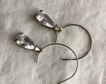 Crystal Teardrop Earrings  -- 548