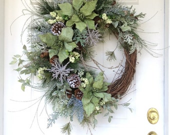 Holiday sale 15 off christmas wreath holiday by reginasgarden for Elegant christmas decorations for sale