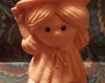 Be Nice to Me or You Won't Get No Goodies Pink Statue Figurine Wearing a Hat