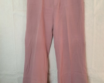 1970s Pink Bell Bottom Slacks - Mens Pants size 35 36 from Levi's Panatela