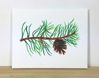 Red Pine Nature Painting