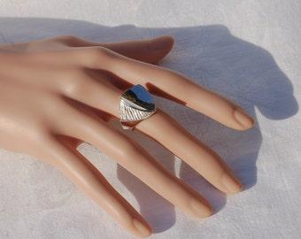 Vintage Silver ring . Most impressive.