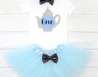 alice in wonderland first birthday alice in wonderland first birthday outfit tea party birthday first birthday outfit girl tea 1st birthday