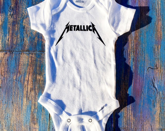 Metallica Onesie, Rocker Onesie, Rock Band Onesie