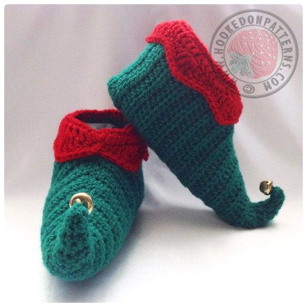 Curly Toes Elf Slipper Shoes Crochet Pdf Pattern
