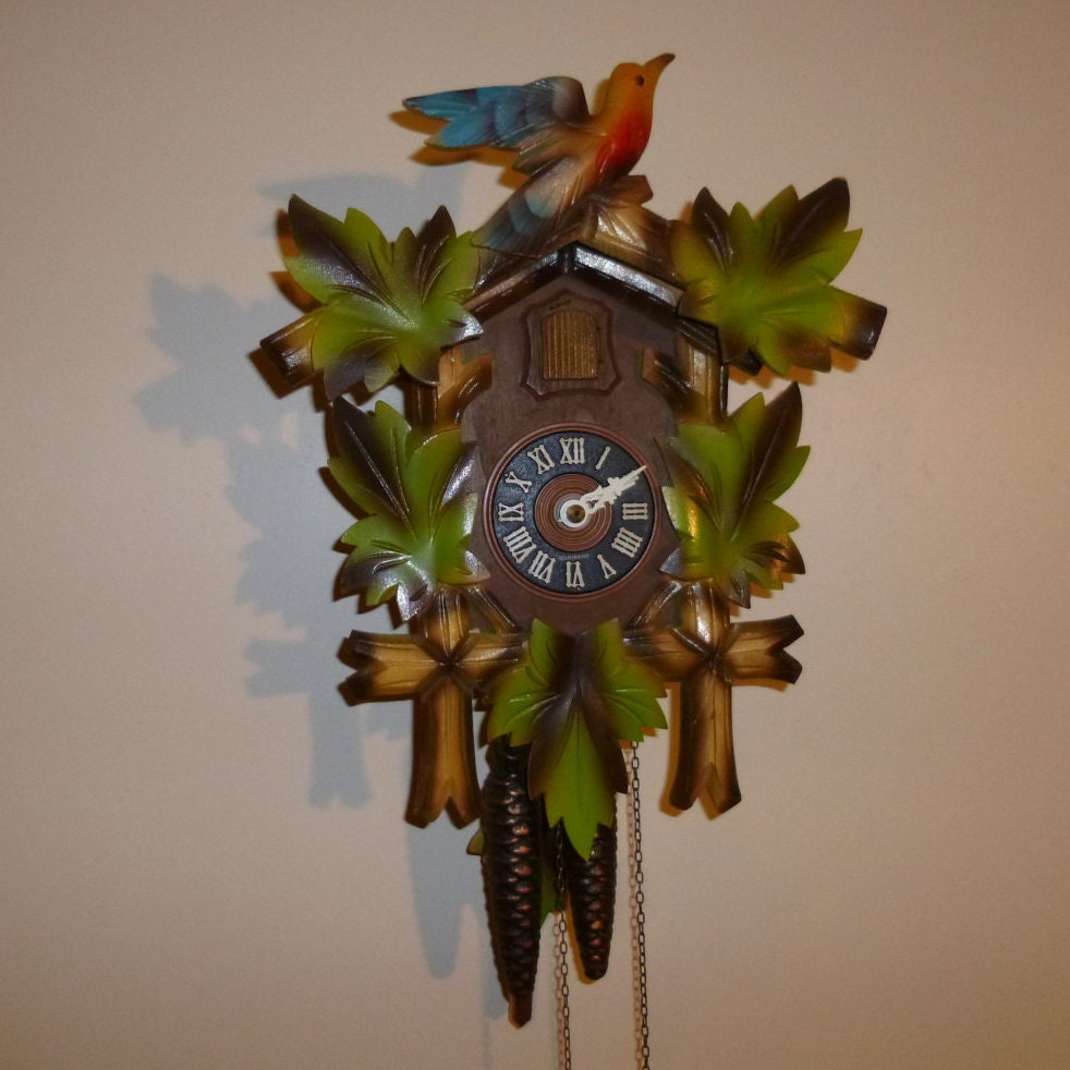 Colorful german made cuckoo clock - Colorful cuckoo clock ...