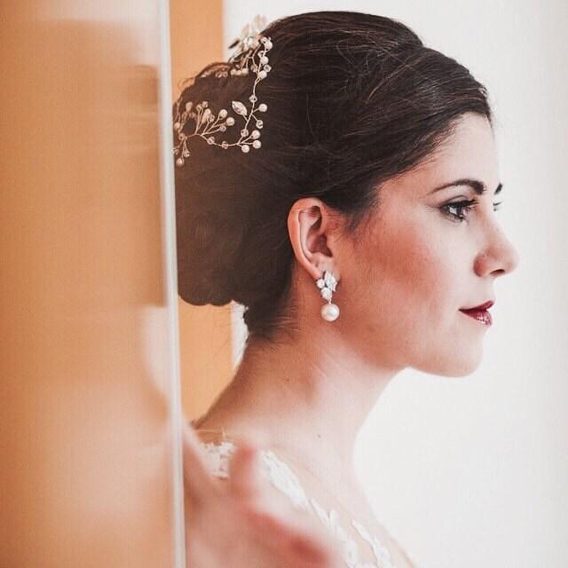 Bridal Pearl Earrings Wedding Earrings Pearl Wedding Jewelry For Brides Bridesmaid Gift Earrings Pearl Bridal Jewelry Bridal Party Gifts