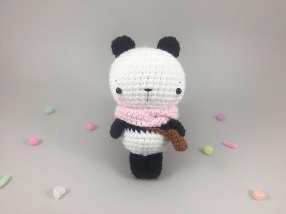 Kawaii Panda Amigurumi : Crochet Panda Bear Stuffed Panda Kawaii Amigurumi by MossyMaze