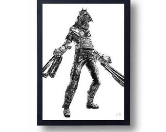 Resident Evil Garrador Monster Poster Print