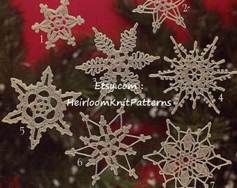 16 Snowflakes Crochet Pattern Christmas Ornaments Tree Trims Decorations Snowflakes Applique Christmas Crochet Pattern PDF - 1057