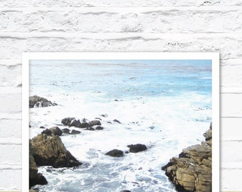 Ocean Photography Print Art, Ocean Poster Art, Ocean Wall Art, Ocean Print, Ocean Art Print , Blue Wave Print, Water Print, Ocean Art