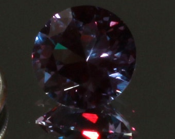 12mm Round Brilliant Faceted Imitation Synthetic Alexandrite Loose Gemstone 6.84 CTW