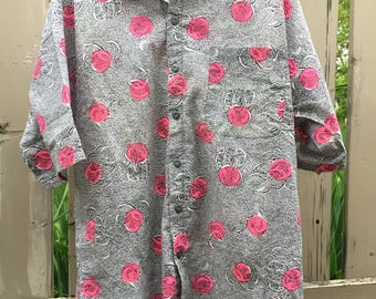 80s Awesomely Patterned Button Up