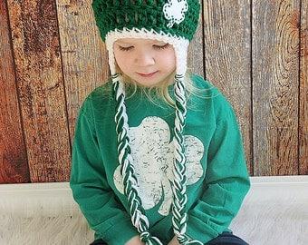 St. Patrick's Day Shamrock Hat, St. Patrick's Day Hat, Four Leaf Clover Hat