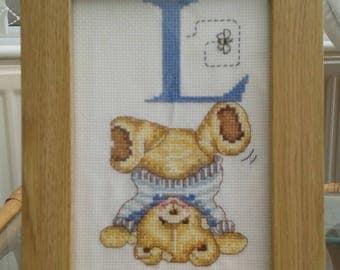 Cross Stitch Alphabet - L