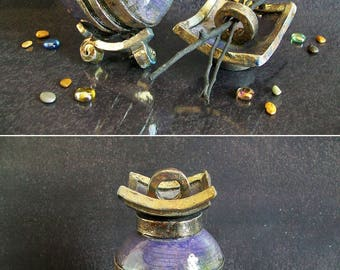 raku ceramic Urn, purple urn, cremation urn, keepsake urn for ashes, human urn, pet urn, dog urn, cat urn, personalized urn, pet loss urn