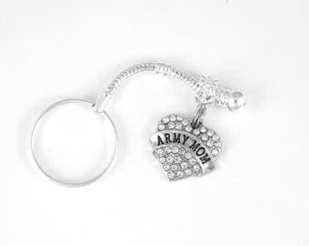 Army Wife Gift Army Wife jewelry Army Wife Keychain Army Mom present Key Chain Military gift  Military Soldier Mom USA Patriotic