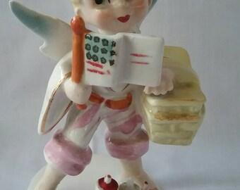 Vintage Lefton July Angel Figurine, Fourth of July