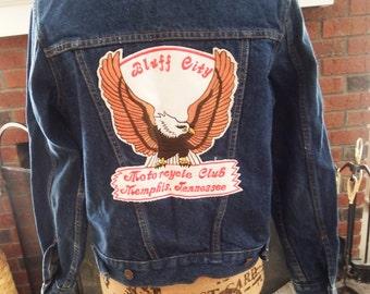 Levi Jean Jacket - jean jacket -levi jacket - levi denim jacket - vintage denim - denim jacket - blue jean jacket