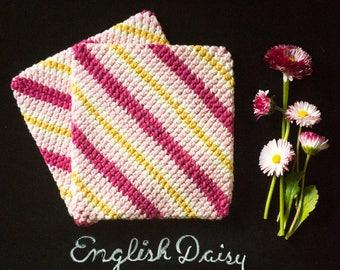 Potholder | Hot Pad | Crocheted Cotton Potholder | House Warming Gift | Bridal Shower | Kitchen Gift | Kitchen