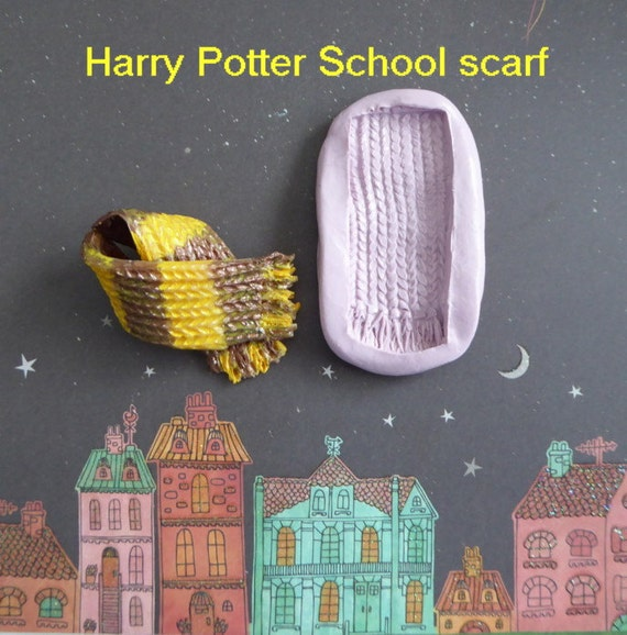 Knitting Cake Mould : Wizard knit scarf silicone mold fondant chocolate candy diy