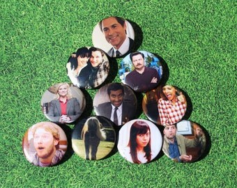 Parks and Recreation Pinback Buttons