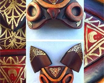 Princess Mononoke Half Mask (Meisha Mock orignal design)