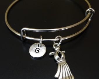 Dress Bangle Bracelet, Adjustable Expandable Bangle Bracelet, Dress Charm, Dress Pendant, Dress Jewelry, Prom Bracelet,Prom Jewelry,Sweet 16