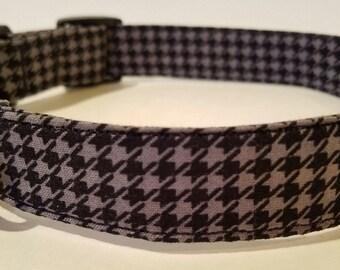 Black and Grey Herringbone collar